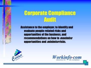 Corporate Compliance Audit