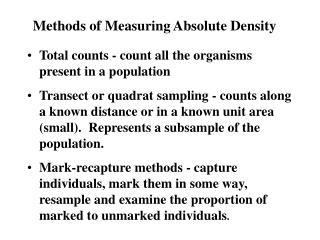 methods of measuring absolute density