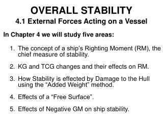 OVERALL STABILITY
