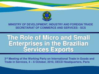 The Role of Micro and Small Enterprises in the Brazilian Services Exports