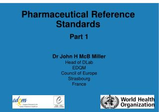 Pharmaceutical Reference Standards