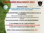 CONDAMIN REGLEMENT 2013