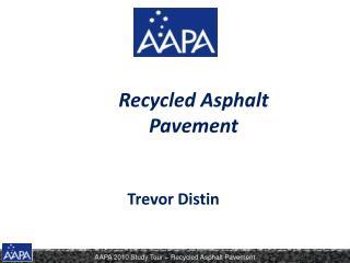Recycled Asphalt Pavement