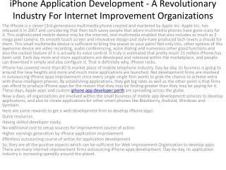 6iPhone Application Development - A Revolutionary Industry F