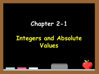 integers and absolute values