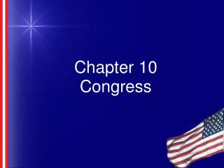Chapter 10 Congress