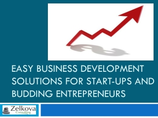 Easy Business Development Solutions For Start-Ups