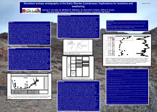 Strontium isotope stratigraphy of the Early Silurian Llandovery: Implications for tectonics and weathering Jeremy C. Gou