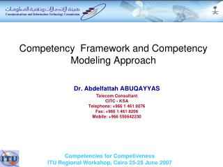Competency  Framework and Competency Modeling Approach