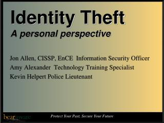 Identity Theft A personal perspective