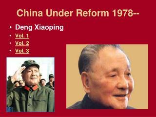 China Under Reform 1978--