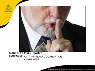 ANTI - FRAUD AND CORRUPTION AWARENESS