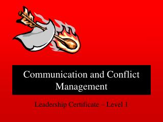 communication and conflict management