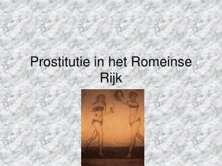 Prostitutie in het Romeinse Rijk