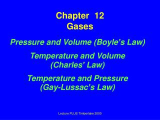 Chapter  12 Gases