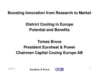 Boosting Innovation from Research to Market