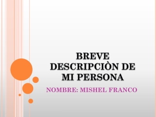 Breve descripci