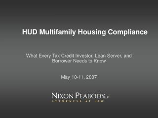 hud multifamily housing compliance