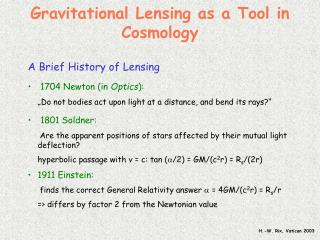 Gravitational Lensing as a Tool in Cosmology