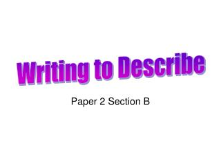 Paper 2 Section B