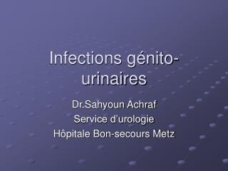 Infections g nito-urinaires