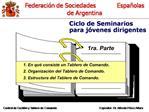 Ciclo de Seminarios                                               para j venes dirigentes