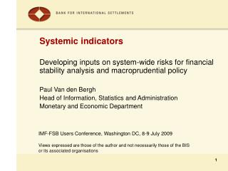 Systemic indicators