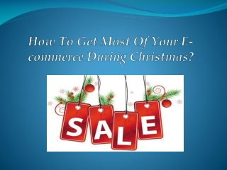 Increase your Christmas sales with Effective Ecommerce SEO s