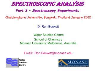 Spectroscopic Analysis Part 3   Spectroscopy Experiments