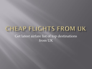 Airfare from UK