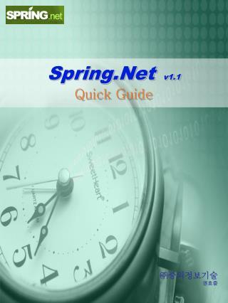 Spring.Net  v1.1 Quick Guide