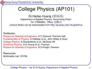 College Physics AP101