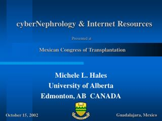 CyberNephrology  Internet Resources