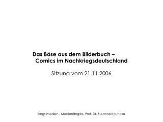 Das B se aus dem Bilderbuch     Comics im Nachkriegsdeutschland