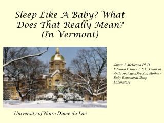 Sleep Like A Baby What Does That Really Mean In Vermont