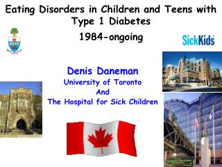 Eating Disorders in Children and Teens with Type 1 Diabetes  1984-ongoing