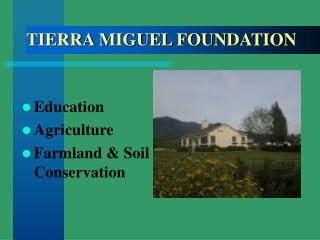 Education Agriculture Farmland  Soil Conservation