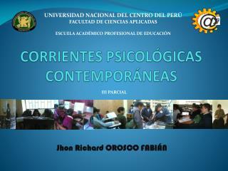 CORRIENTES PSICOL GICAS CONTEMPOR NEAS