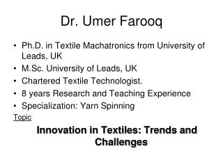 Dr. Umer Farooq