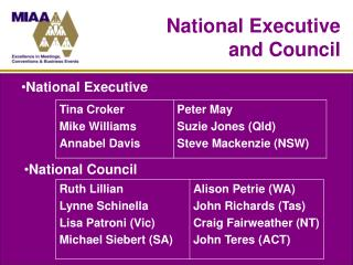 National Executive and Council