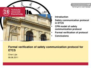 Formal verification of safety communication protocol for ETCS