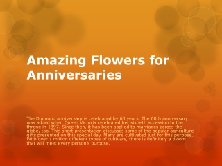 Amazing Flowers for Anniversaries