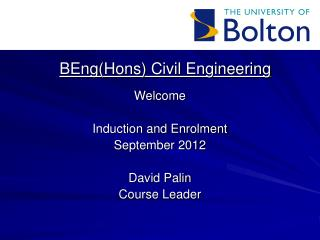 BEngHons Civil Engineering