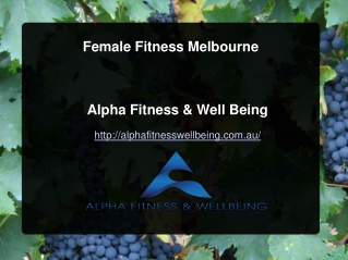 Female Fitness Melbourne