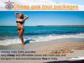 Cheap goa tour packages