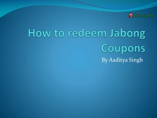 How to redeem Jabong Coupons