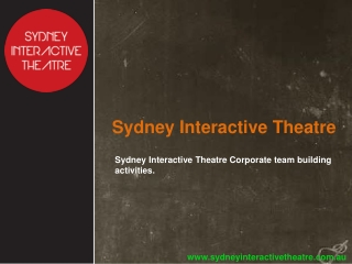 Sydney Interactive Theatre Corporate team building activitie