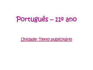 Portugu s   11  ano
