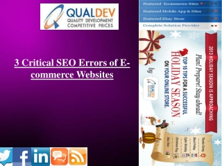 3 Critical SEO Errors of E-commerce Websites