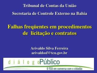Falhas freq entes em procedimentos de  licita  o e contratos